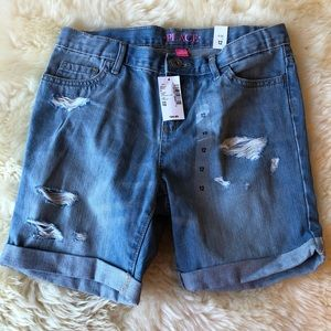 Girl's Size 12 Distressed Jean Shorts